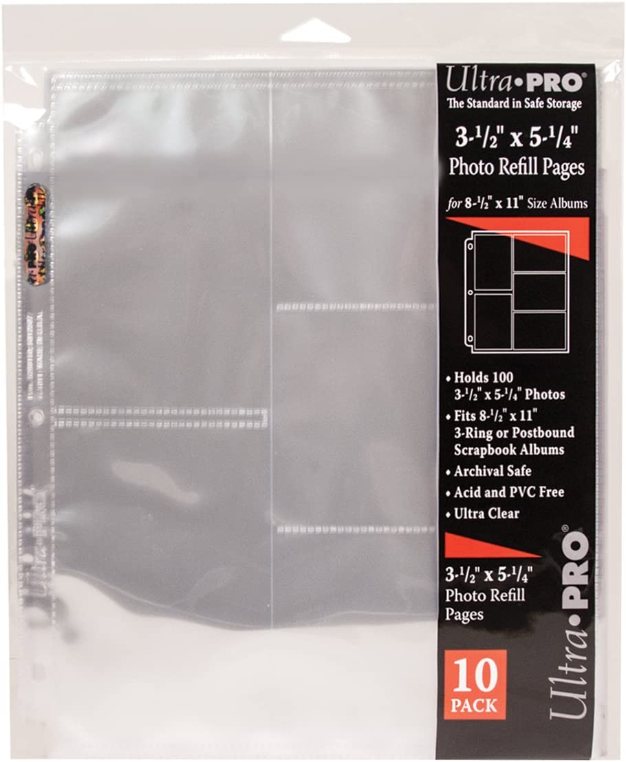 60 Pockets Ultra Pro 8.5X11 Refill Pages
