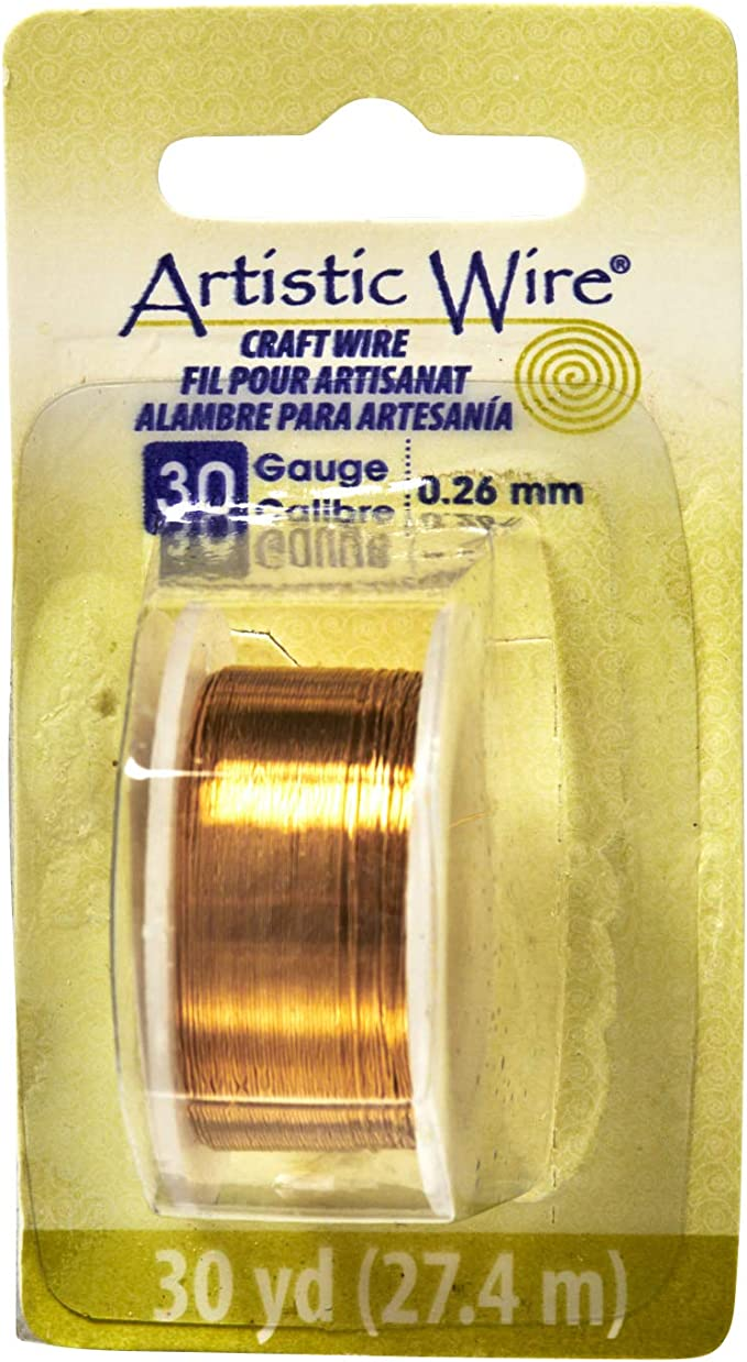 Artistic Wire 26 Gauge Bare Copper 27.4 m 30 yd .41 mm