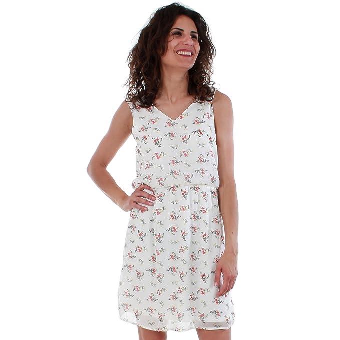 Vero Moda Vestido Mujer XS Blanco 10198946 VMKAY SL Short Dress Pristine/Evita Pri