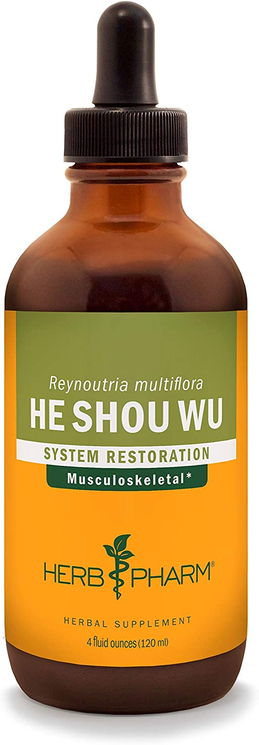 Herb Pharm He (Ho) Shou Wu Liquid Extract for Musculoskeletal System Support - 4 Ounce