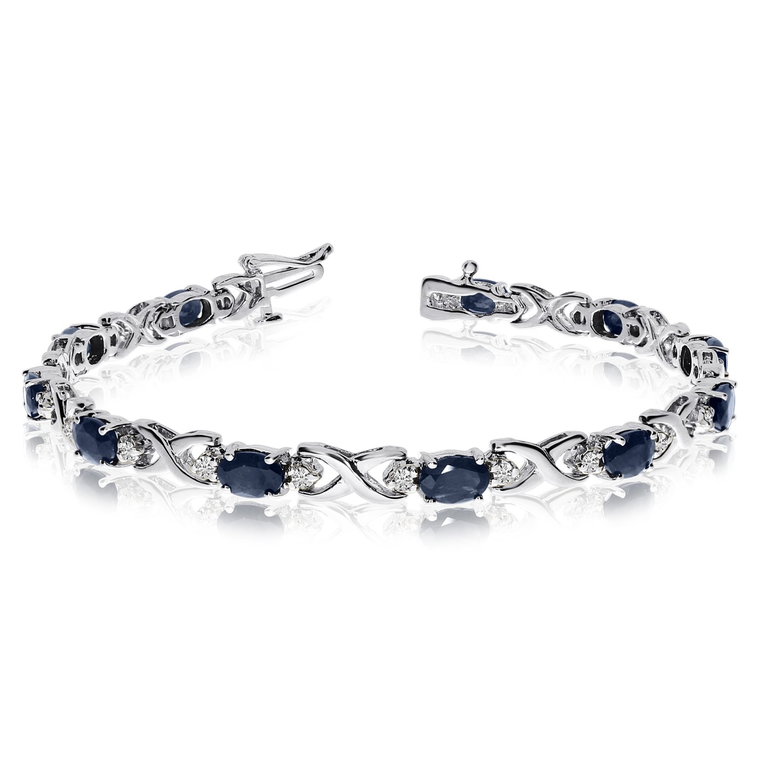 gold white bracelet image diamond goodwins amp sapphire from ladies