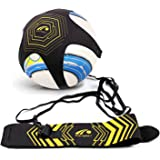 BROTOU Football Kick Trainer, Soccer Solo Skill Practice Training Aid for Kids Youth Adult Universal Fits Size 3, 4, 5 Footballs