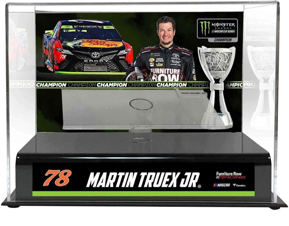 Martin Truex Jr 2017 NASCAR Cup Series Champion 1:24 Scale Diecast Case with Pedestal