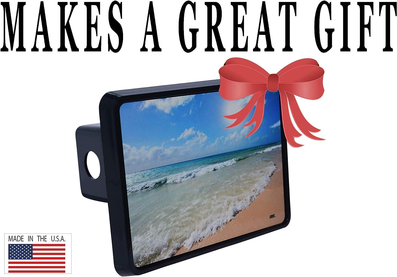 Rogue River Tactical Ocean Beach Waves Coastal Sunset Trailer Hitch Cover Plug Gift Idea Shoreline