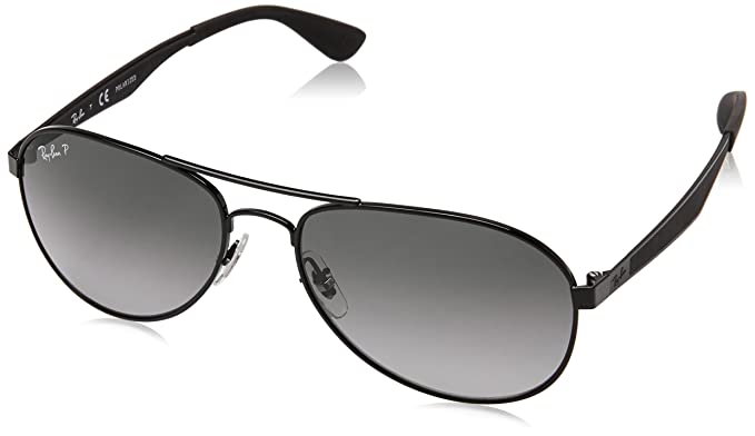 07a72965c353 Amazon.com: Ray-Ban Men's Metal Man Sunglass Polarized Aviator ...