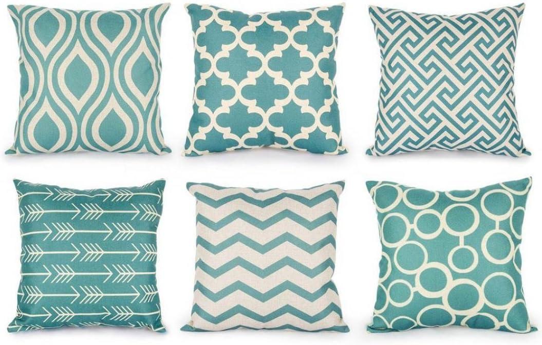 Home Sofa Decor Linen Cotton Throw Pillow Case Cushion Cover Home Car Waist Room