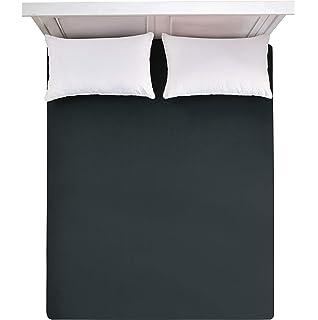 Weiß und Braun 2er Rund Bettlaken Spanbetttuch Spannbettlaken