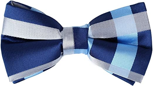 Dan Smith Mens Fashion Microfiber Patterned Self-tied Bowtie With Box