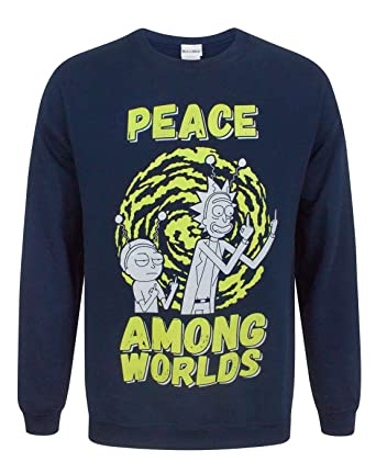 8d7077467f5 Rick   Morty Peace Among Worlds Men s Sweater  Amazon.co.uk  Clothing