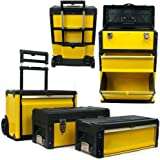 3-in-1 Rolling Tool Box with Wheels, Foldable Comfort Handle, and Removable Sections – Toolbox Organizers and Storage by Stal