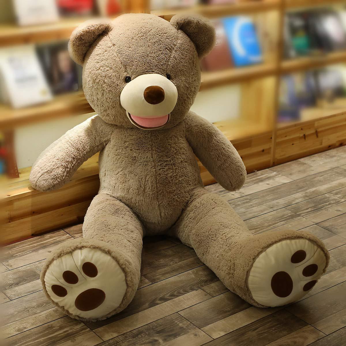pink-39inch LApapaye Giant Teddy Bears Stuffed Animal Teddy Bear with Footprints Big Toys Life Size Plush Toy for Girlfriend