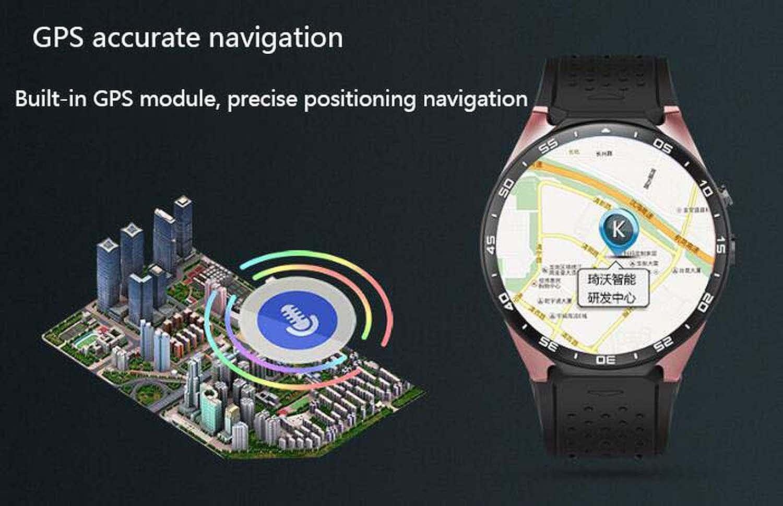 Pantalla Completa de círculo KW88 Reloj Inteligente Android Paso Orientación de frecuencia cardíaca Reloj Inteligente Bluetooth Pantalla táctil Tarjeta SIM ...