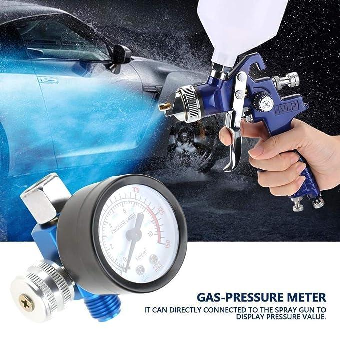 DEWIN Regulador de presión de Aire - Pistola de Pintura en Aerosol ...