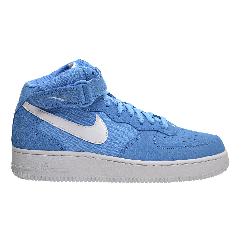 official photos c617c 0cb55 Amazon.com   Nike Air Force 1 MID  07 Men s Shoes University Blue White  White 315123-409   Basketball