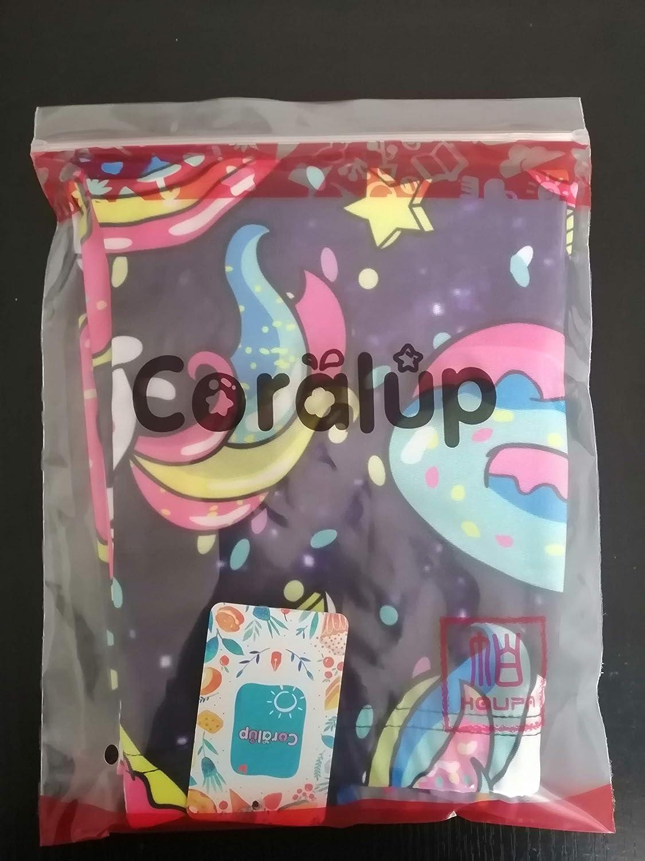 lunghezza intera 100 Leggings colorati elasticizzati con unicorno stampato Coralup in cotone casual stampa 3D 140 cm