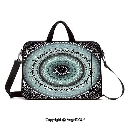 e141e9969759 Amazon.com: AngelDOU Neoprene Printed Fashion Laptop Bag Vintage ...