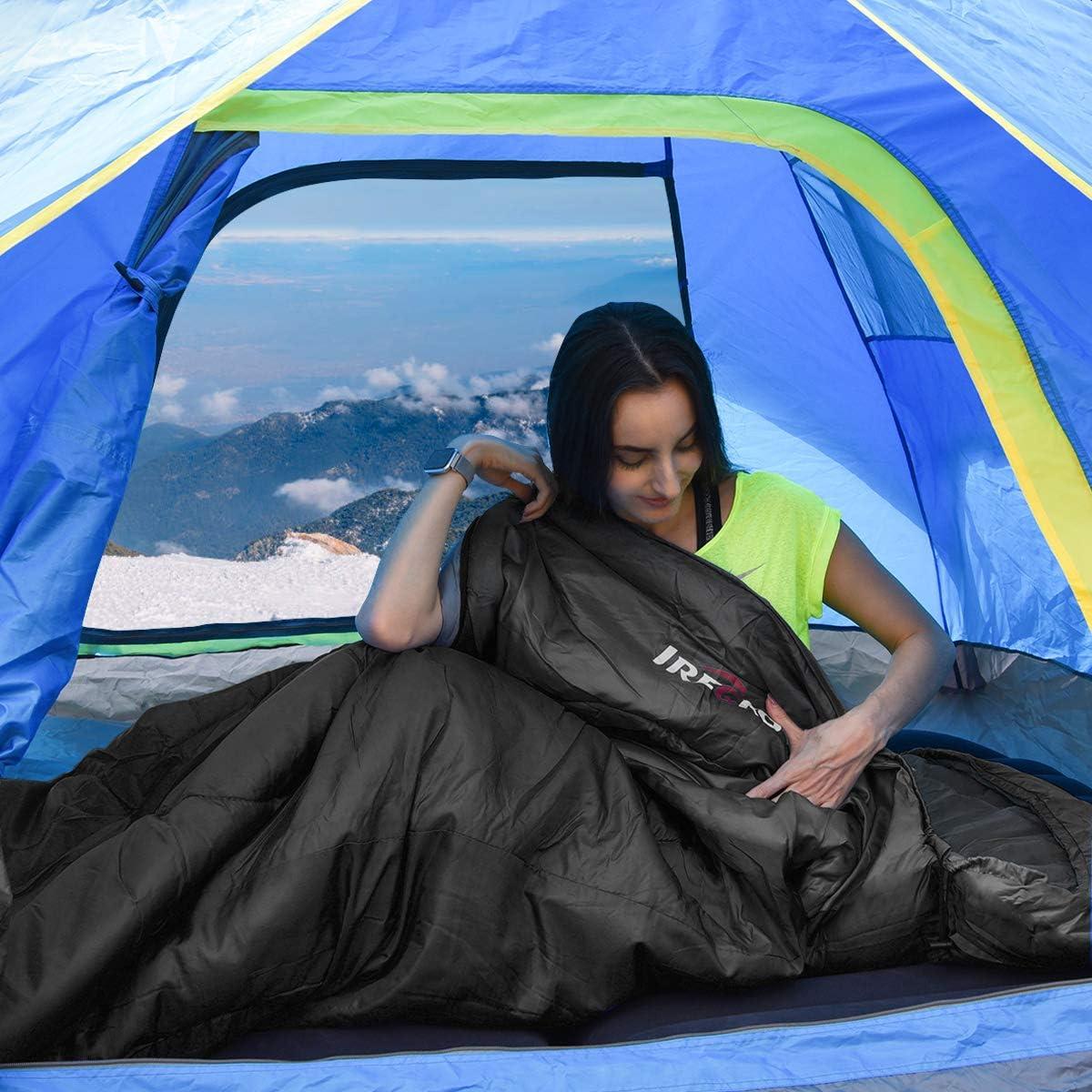 3-4 Jahreszeiten Schlafsack Camping Reisen und Outdoor Kleines Packma/ß Warm Deckenschlafsack Leichter Trekkingschlafsack 220 x 80 cm IREGRO Schlafsack Ideal f/ür Erwachsene und Kinder