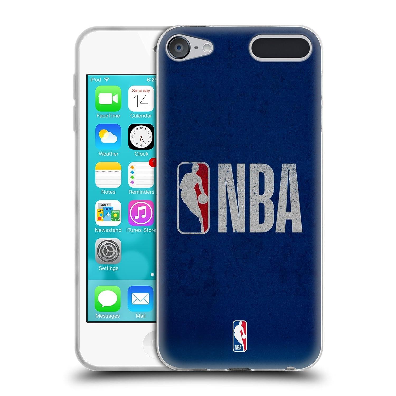 Official NBA B& W Marble Logoman Soft Gel Case for Apple iPod Touch 6G 6th Gen Head Case Designs HTPCR-TOUCH6G-NBALOGM-BWM