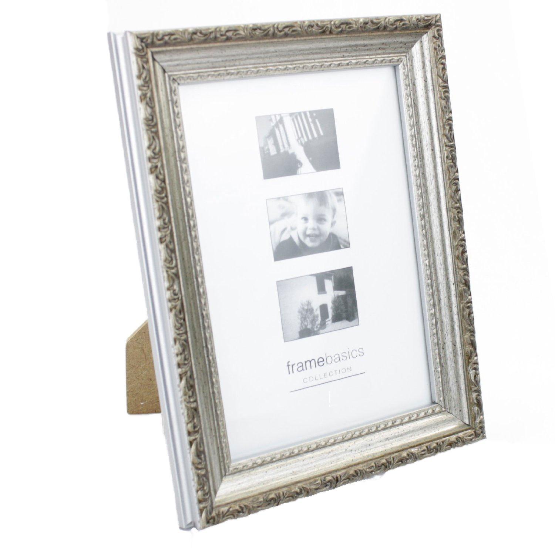 Amazon.de: Bilderrahmen Antik Silber für Fotos 15 x 10cm mit ...