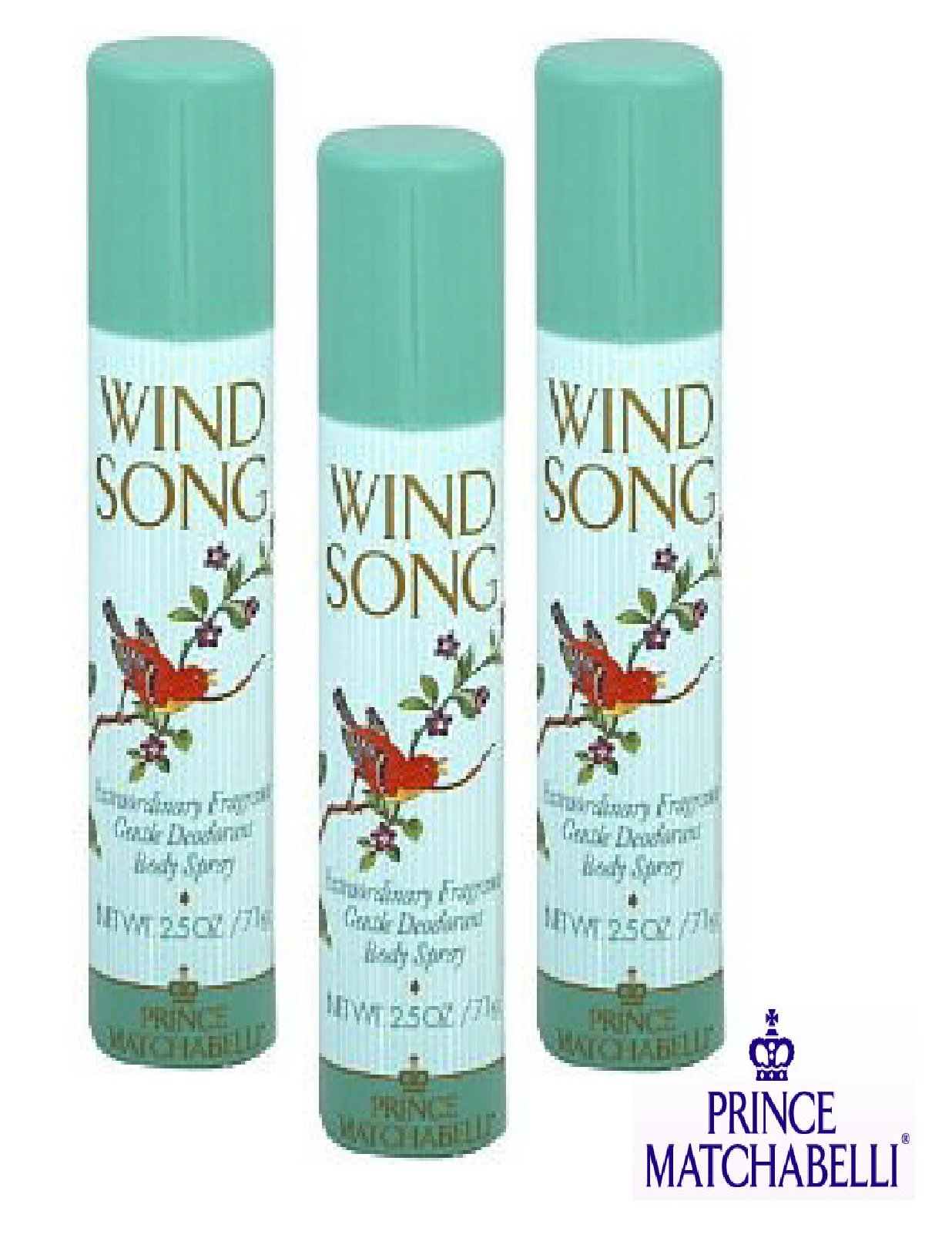 WIND SONG BODY SPRAY - PACKAGE OF 3