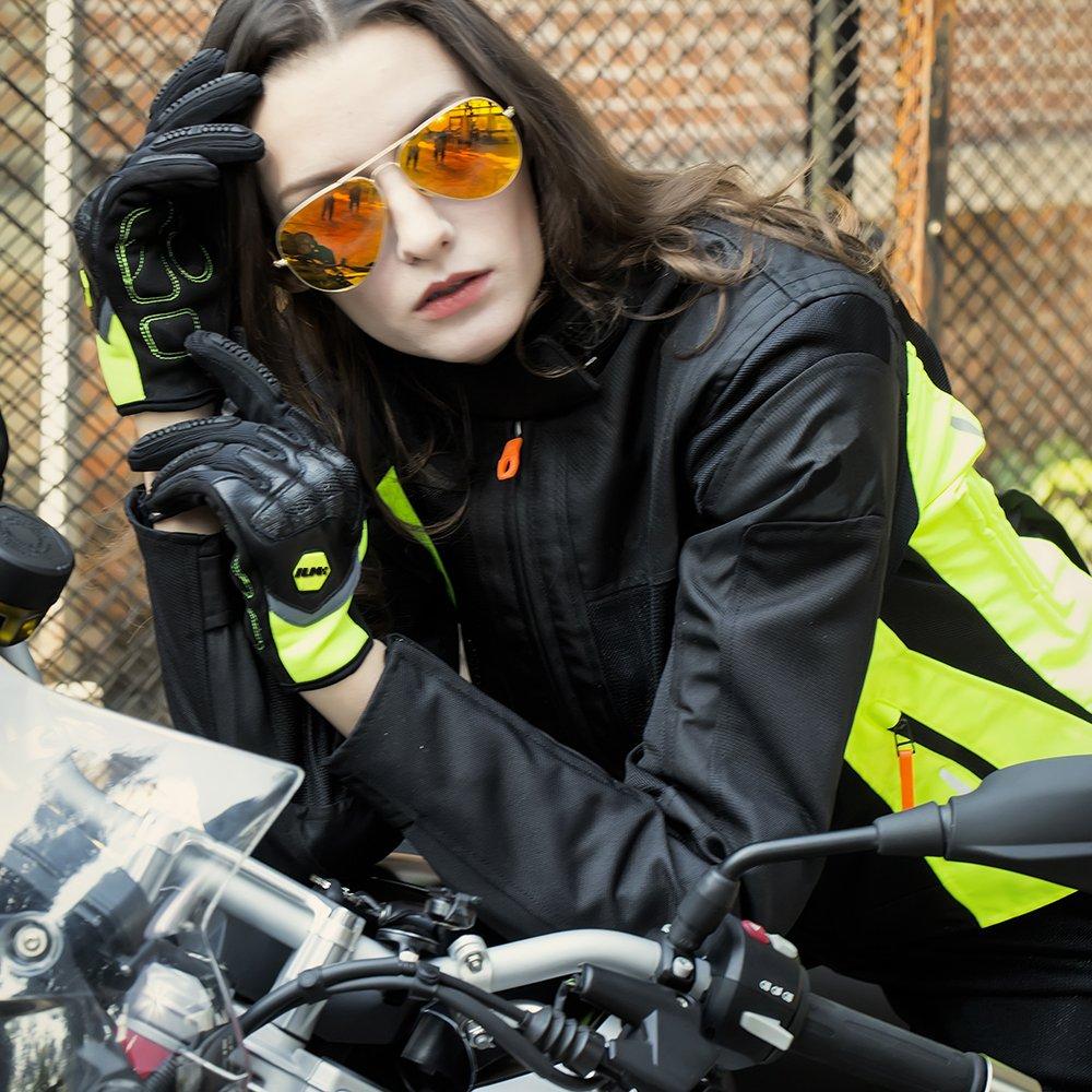 Black,XL Motorbike Gloves Touchscreen Full Finger Lightweight with Hard Knuckle Ideal Gear Accessories Fit For Dirt Bike ATV Motorbike Cycling Outdoor Powersports Men Women