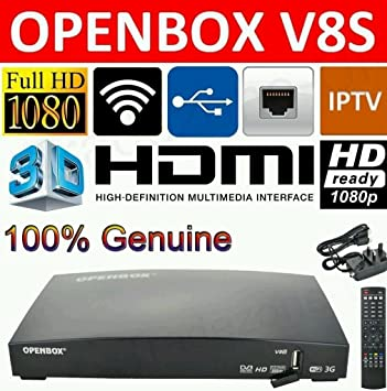 Openbox V8S Digital Freesat PVR Full HD TV Satellite Receiver Box Genuine  UK LIKE V5S V9S ZGEMMA