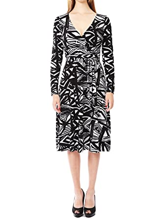70e64dc839b7c JayJay Women Vintage Aztec Print Faux Wrap Midi A Line Maxi Dress With Bow  Belt