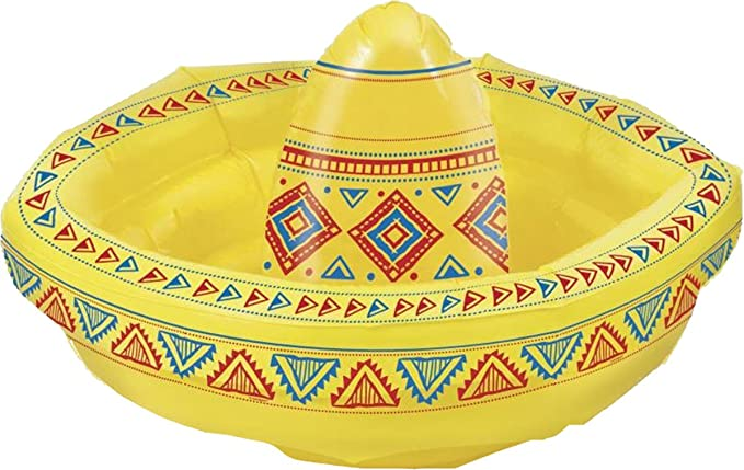 Mexican Fancy Dress Party Accessory Drinks Cooler Inflatable Sombrero 19u0026quot;  sc 1 st  Amazon UK & Mexican Fancy Dress Party Accessory Drinks Cooler Inflatable ...