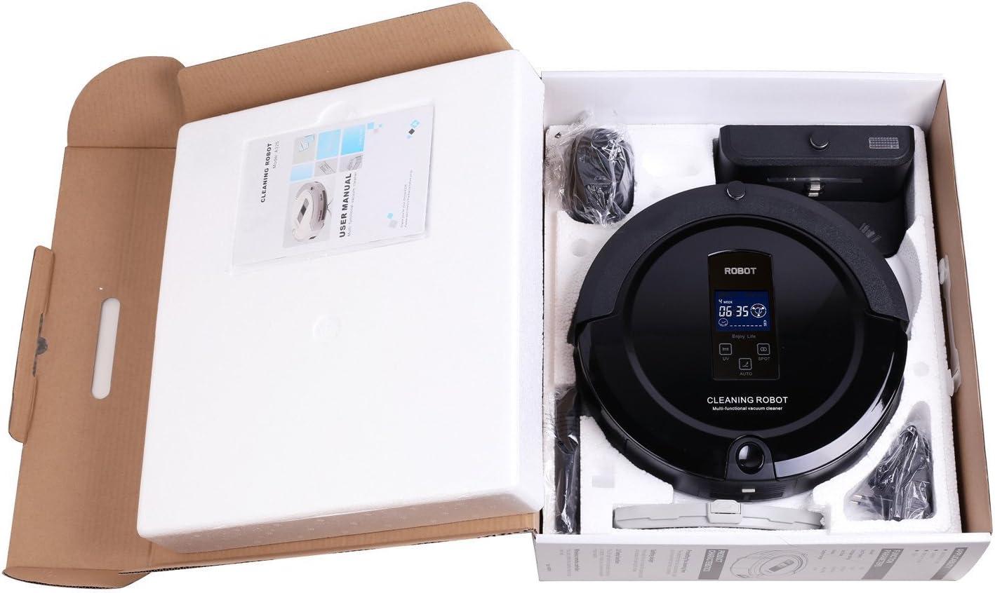 Amtidy Wisdom Robotic A325 - Robot Aspirador, Color Negro Negro: Amazon.es: Hogar
