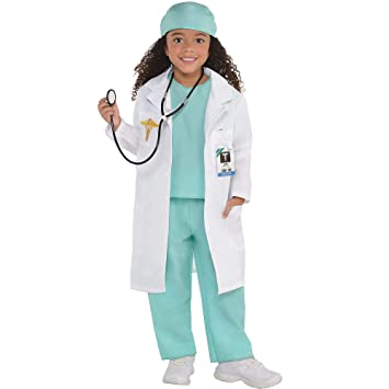 better price laest technology official images Doctor Kids Fancy Dress ER Hospital Surgeon Dr Uniform Girls Boys Childs  Costume (Age 3-4 Years)