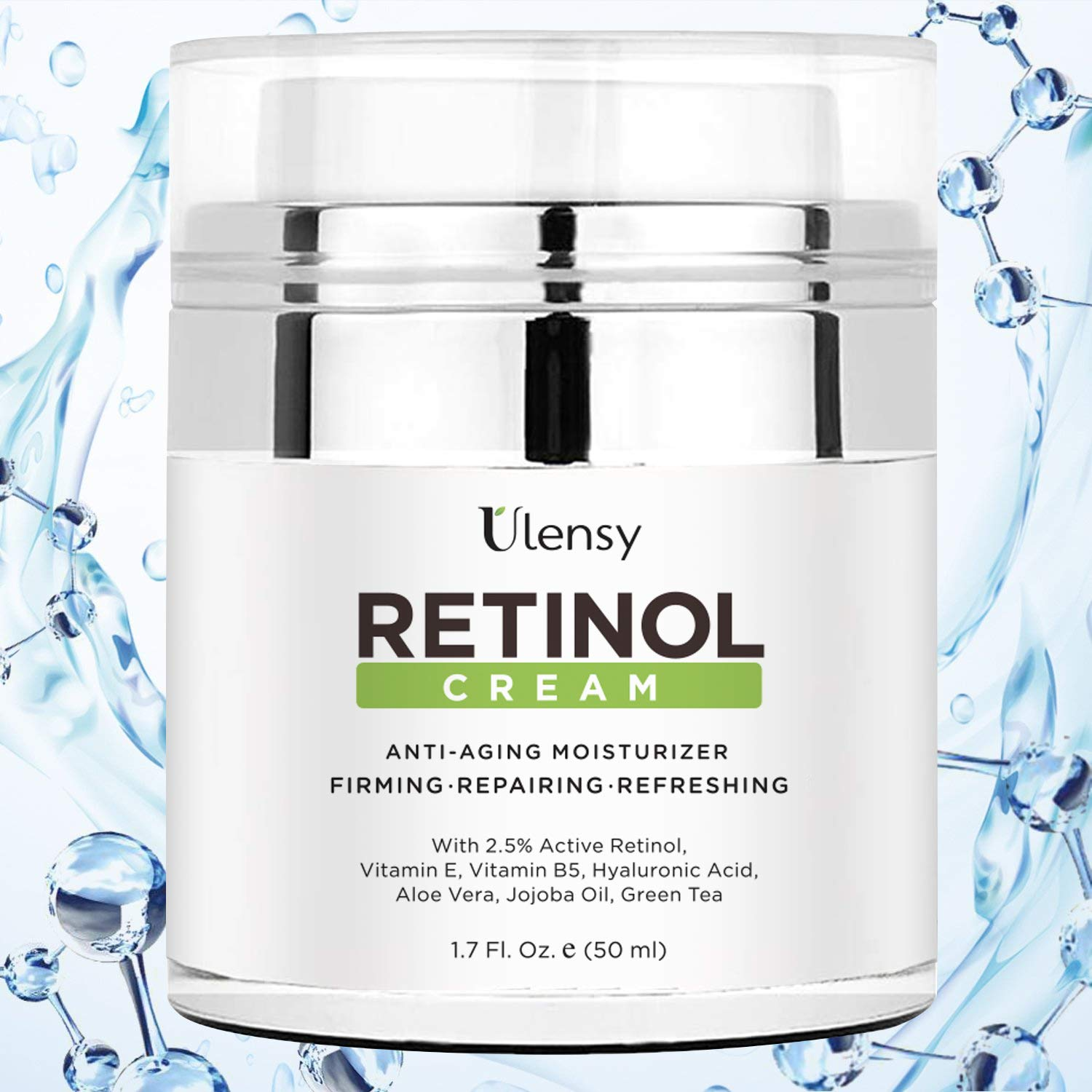 Ulensy Upgraded Retinol Face Cream, Miracle Moisturizing Face Cream, Best Retinol Face Cream for Beautiful Face by Ulensy