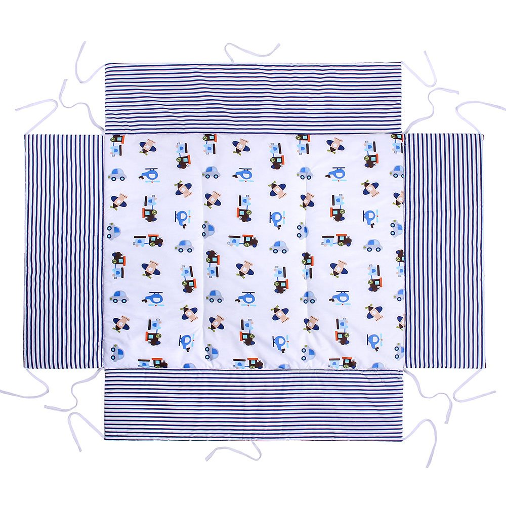 washable; surface 100/% cotton protects against impact LULANDO playpen mat 75x100 cm for children made in EU anti-allergic filling; Oeko-Tex certification resistant to deformation