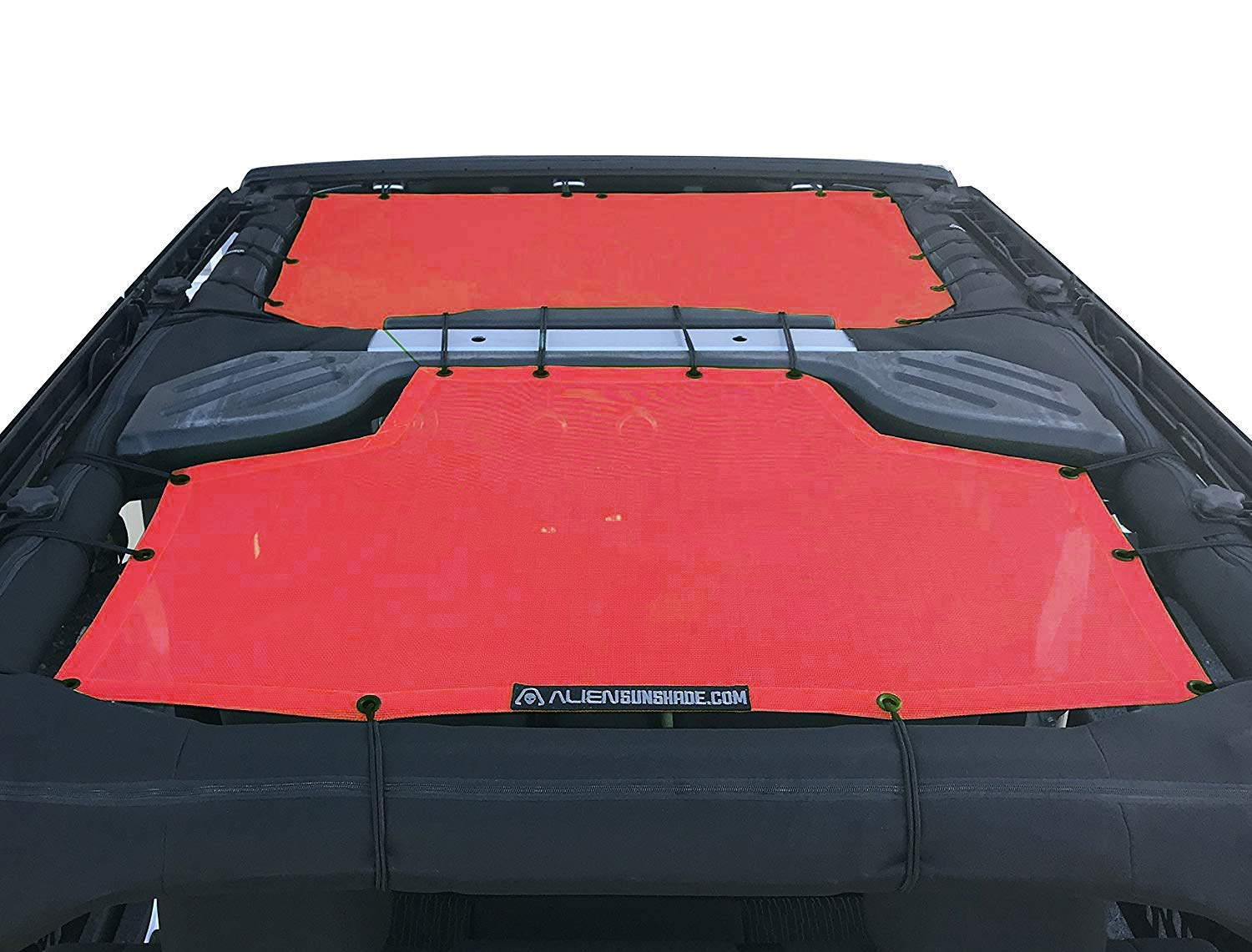 Jeep JKU Sunshade 4-Door JKU Top Orange ALIEN SUNSHADE Jeep Wrangler Sunshade 2-Piece Front /& Rear Mesh Jeep Tops 2007-2018