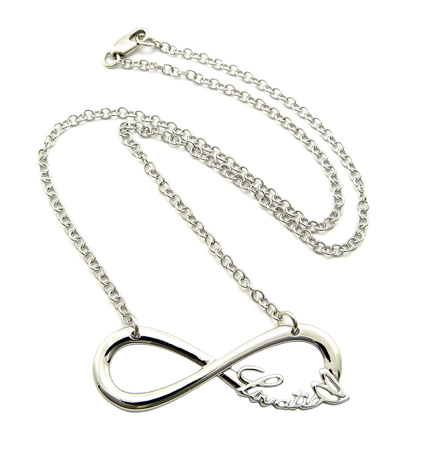 love products women com formal infinity silver sterling infinitesoldier casual necklace and heart sign pendant