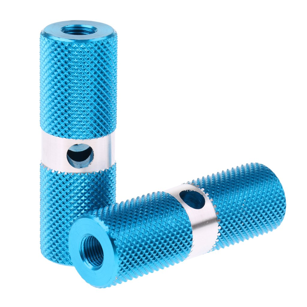 B Baosity 4Pcs Alloy Cylinder BMX 3//8 inch Axle Foot Stunt Pegs Bike Bicycle Cycling Parts Accessories
