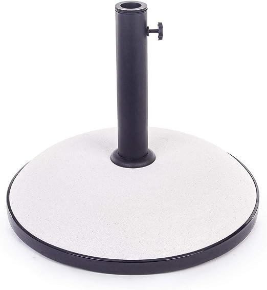 ARREDinITALY - Base para sombrilla, Cemento y Resina, 30 kg, Color ...