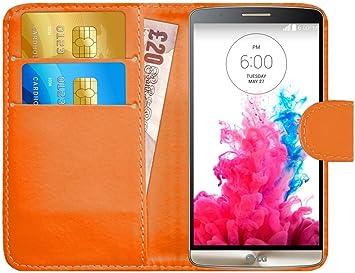 G-Shield Funda para LG G3, Carcasa de Cuero con Ranuras para ...