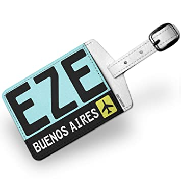 Amazon.com | Luggage Tag Airport code EZE/Buenos Aires country: Argentina - NEONBLOND | Luggage Tags