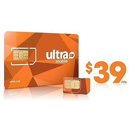 Amazon.com: Ultra Mobile Tarjeta SIM precargado con 39 ...