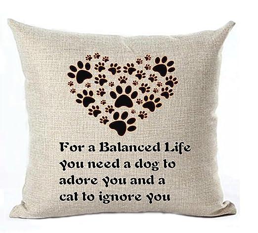 Frases de Vida lino y algodón manta fundas de almohada caso ...