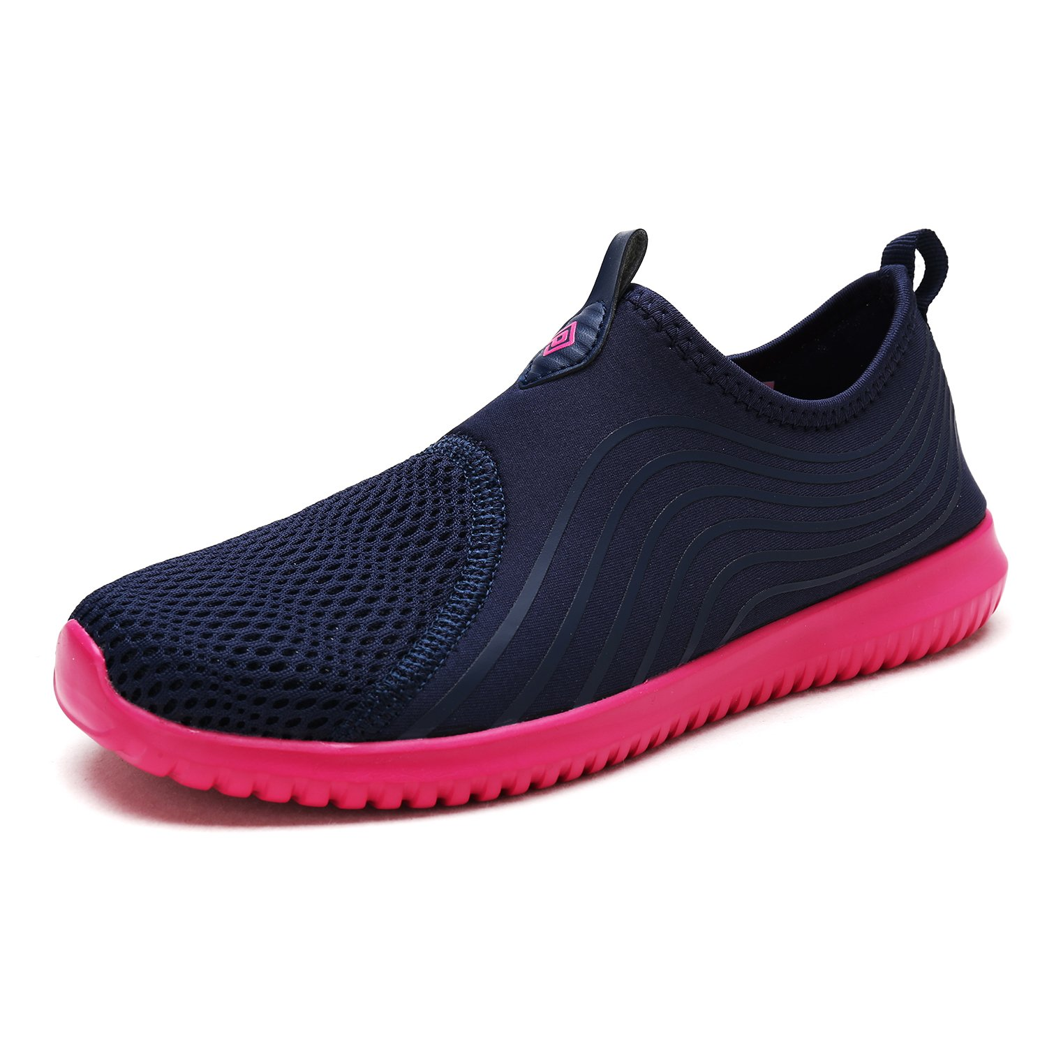DREAM PAIRS Quick-Dry Water Shoes Sports Walking Casual 9.5 Sneakers for Women B07885MSSC 9.5 Casual M US|Navy/H.pink 793709