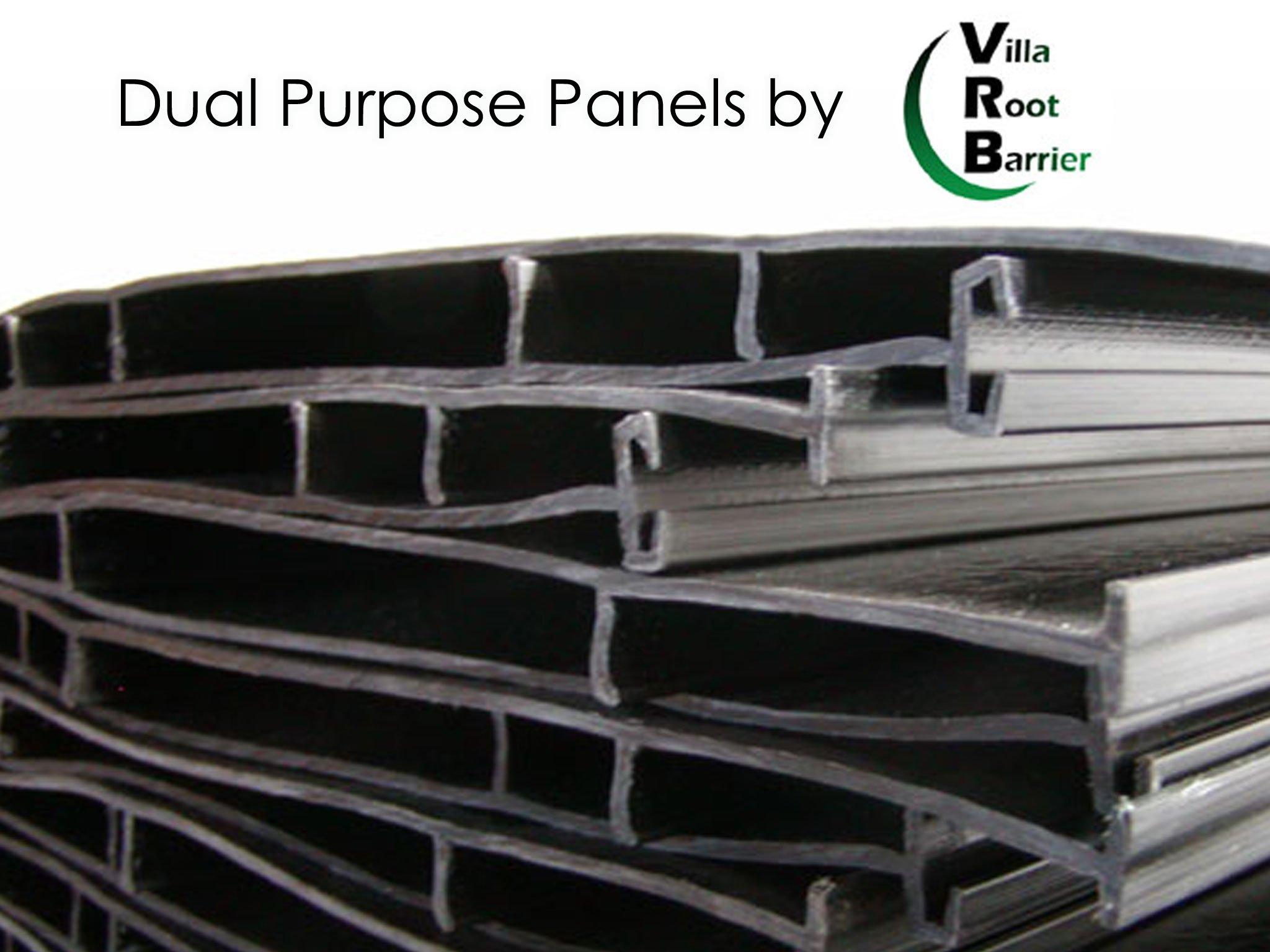 Villa Root Barrier Panels 48''x24''-10per Case- 20'