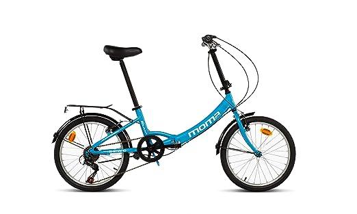 Moma Bikes First Class 2 AZ Bicicleta Plegable Urbana, 6V. Sillin Confort, Unisex Adulto, Azul, Talla Única: Amazon.es: Deportes y aire libre