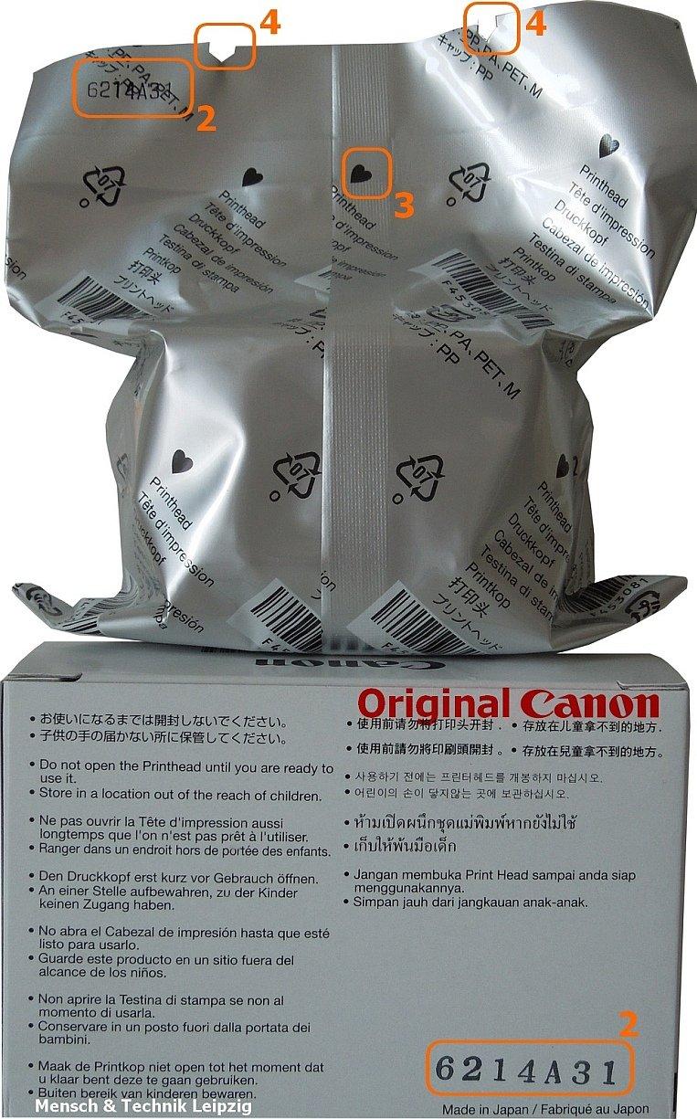 Original Canon testina di stampa per Canon Pixma IP3600, MG5150
