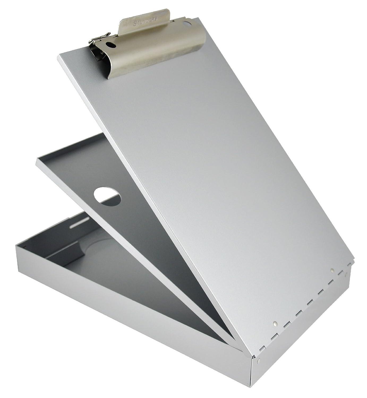 Saunders 21017 - Portablocco con molla CruiserMate su cassetta a modulo, con scomparto intermedio, a 2 vani, apertura dal basso, 23 x 34,5 cm, colore argento