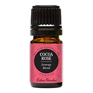 Edens Garden Cocoa Rose Essential Oil Synergy Blend, 100% Pure Therapeutic Grade (Highest Quality Aromatherapy Oils- Aphrodisiac & Stress), 5 ml