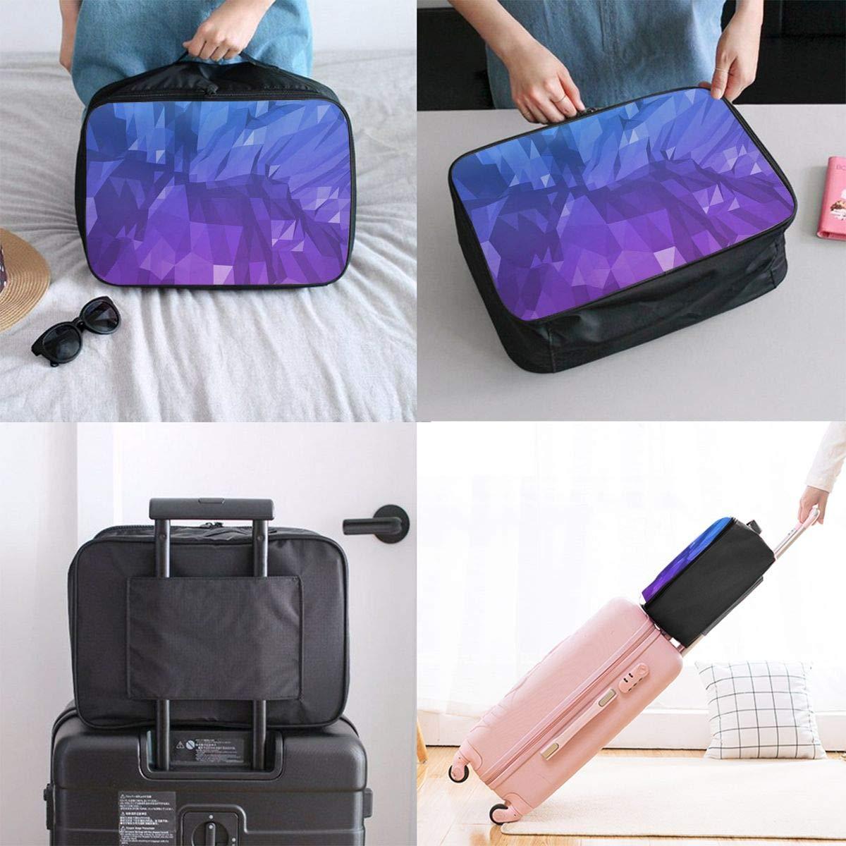 Travel Luggage Duffle Bag Lightweight Portable Handbag Colorful Crystal Pattern Large Capacity Waterproof Foldable Storage Tote
