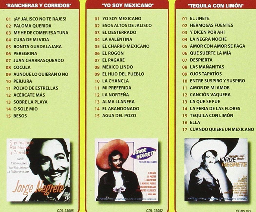 Mis Mejores Canciones, Corridos y Rancheras: Jorge Negrete: Amazon.es: Música