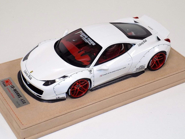 LB 458 Wheels WORKS 1/18 フェラーリ 458 LB イタリア White Red Wheels B07PMP2WV1, 大好き:69499854 --- itxassou.fr