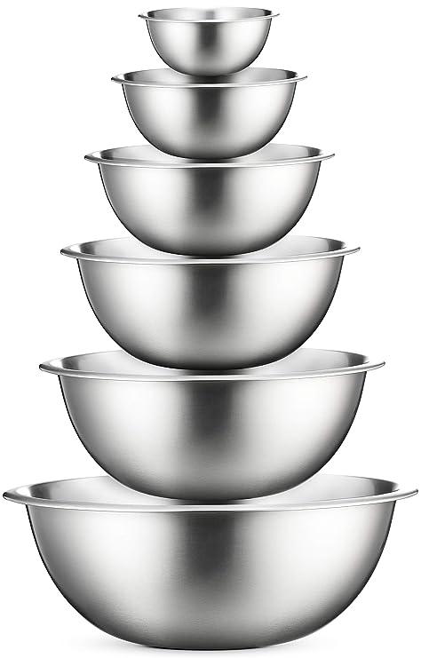 Amazon.com: Tazones para mezclar de acero inoxidable por ...